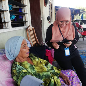 Nik Nurul laughed with humour as the interview conducted
