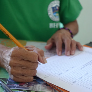 participant completing the survey