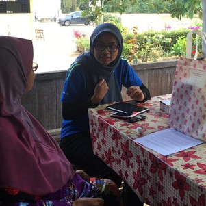 Najwa asking details about the hypertension care