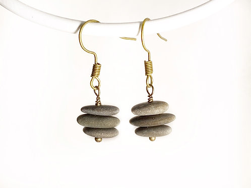 Stacked Stone Earrings