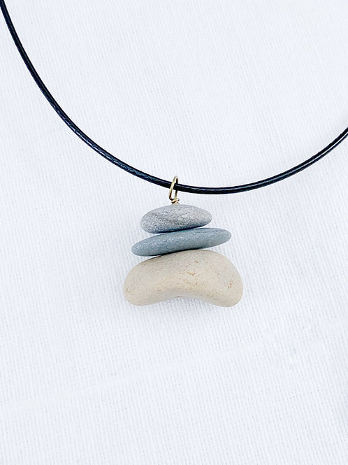 Stacked Stone & Cord Necklace