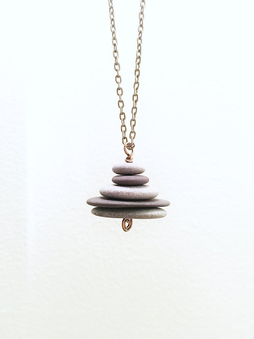 5 stone cairn necklace