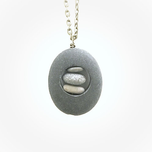 Stone Cutout Necklace