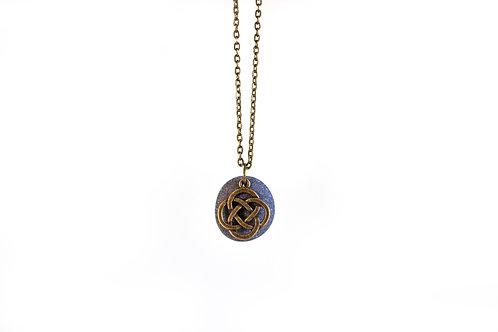 Celtic knot stone necklace