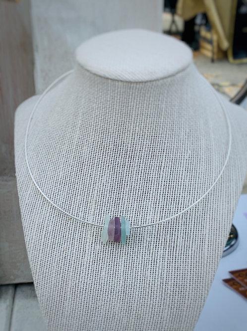 Beach Glass Choker Necklace