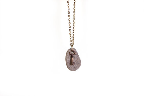 Key stone necklace