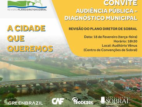Audiência Pública - Revisão Plano Diretor de Sobral.