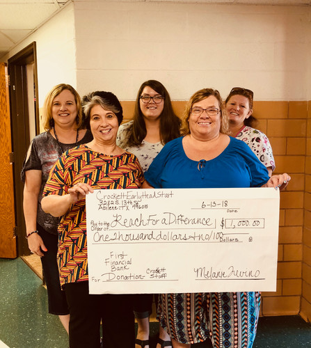 Donation from Crockett Early Childhood - Abilene ISD