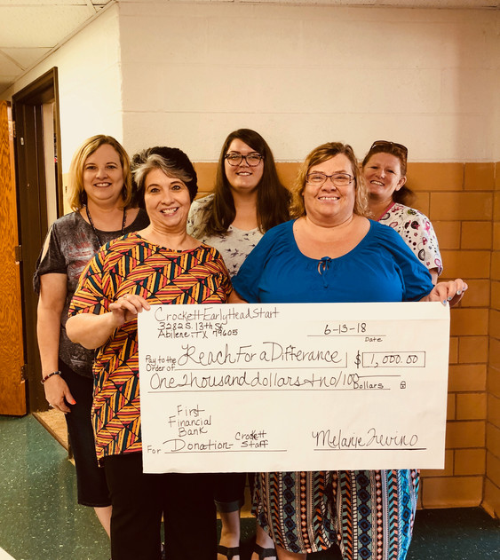 Donation from Crockett Early Childhood - Abilene ISD