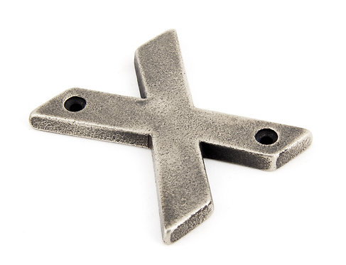 From The Anvil - Antique Pewter Letter X