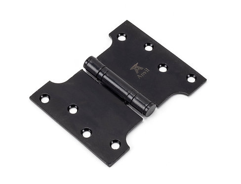 """From The Anvil - Black 4"""" x 3"""" x 5"""" Parliament Hinge (pair) ss"""
