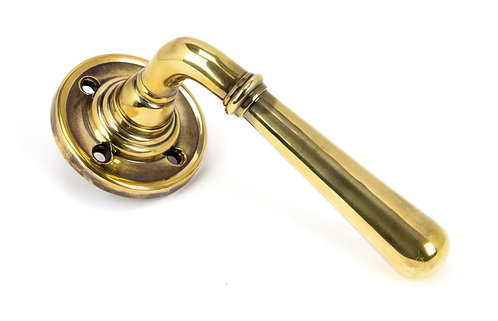 From The Anvil - Aged Brass Newbury Lever on Rose Set