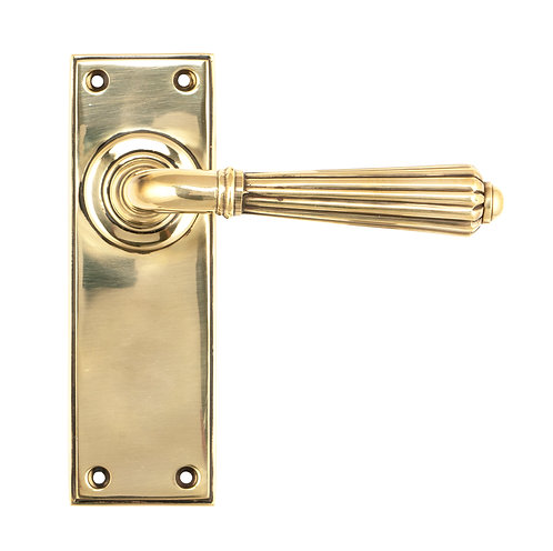 From The Anvil - Aged Brass Hinton Lever Latch Set