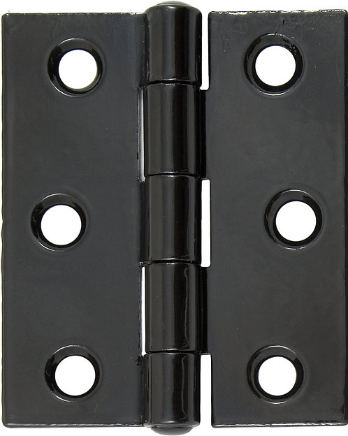 """From The Anvil - Black 3"""" Butt Hinge (pair)"""