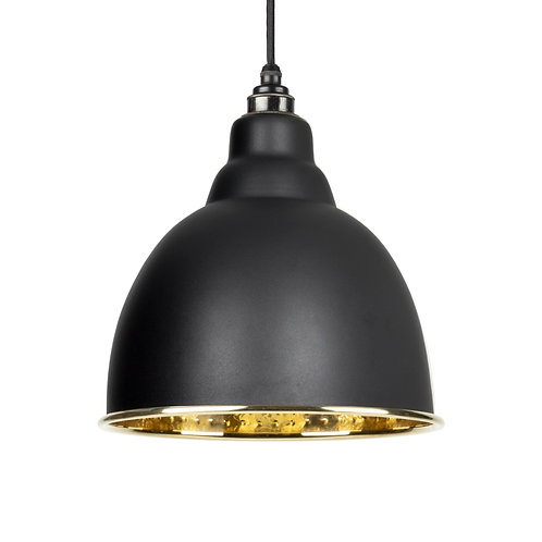 From The Anvil - Black Hammered Brass Brindley Pendant