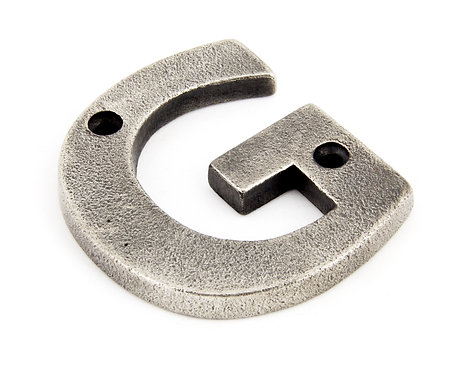 From The Anvil - Antique Pewter Letter G