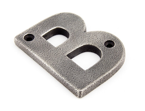 From The Anvil - Antique Pewter Letter B