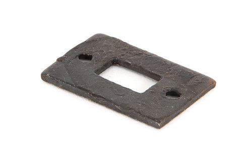 """From The Anvil - Beeswax Mortice Plate for 4"""" Cranked Door Bolt"""