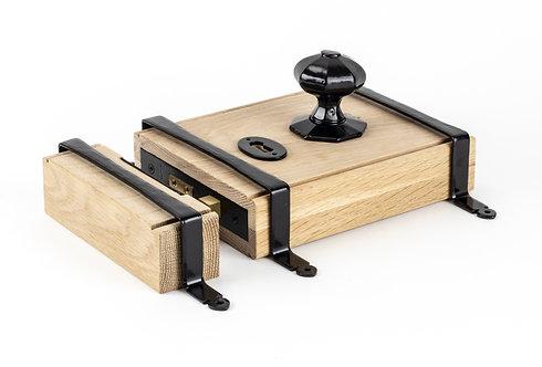From The Anvil - Black Oak Box Lock & Octagonal Knob Set