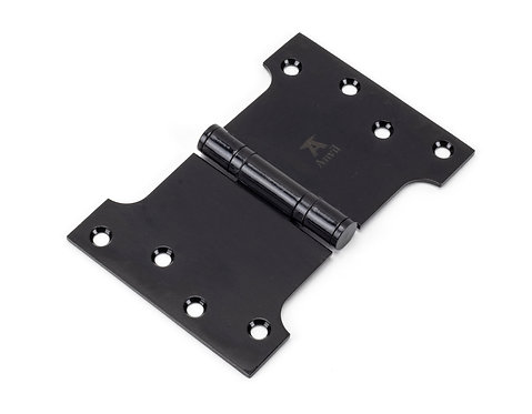 """From The Anvil - Black 4"""" x 4"""" x 6"""" Parliament Hinge (pair) ss"""