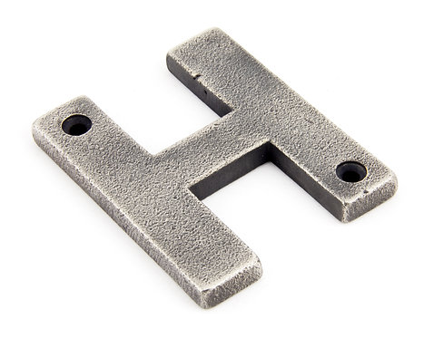 From The Anvil - Antique Pewter Letter H