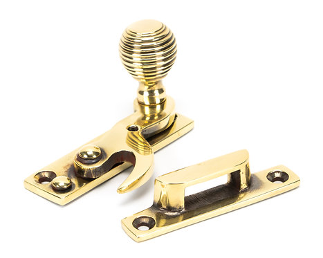 From The Anvil - Aged Brass Beehive Sash Hook Fastener
