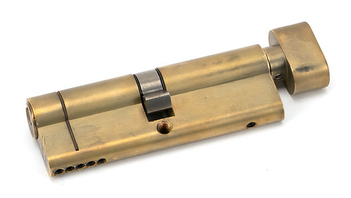 From The Anvil - Aged Brass 45/45 5pin Euro Cylinder/Thumbturn