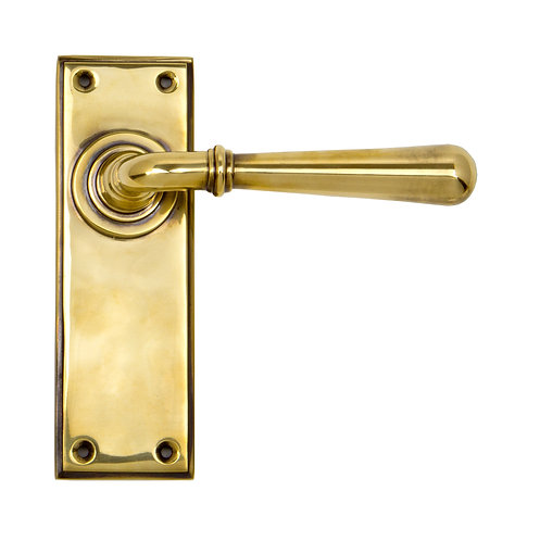 From The Anvil - Aged Brass Newbury Lever Latch Set