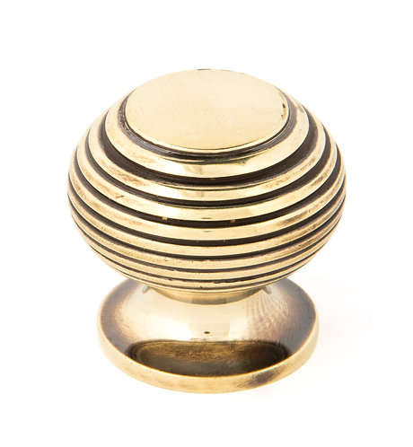 From The Anvil - Aged Brass Beehive Cabinet Knob 30mm