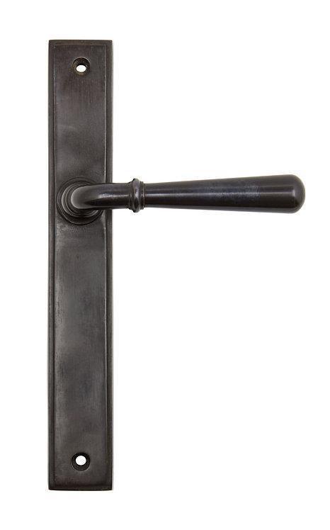 From The Anvil - Aged Bronze Newbury Slimline Lever Latch Set