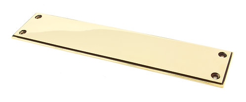 From The Anvil - Aged Brass 300mm Art Deco Fingerplate