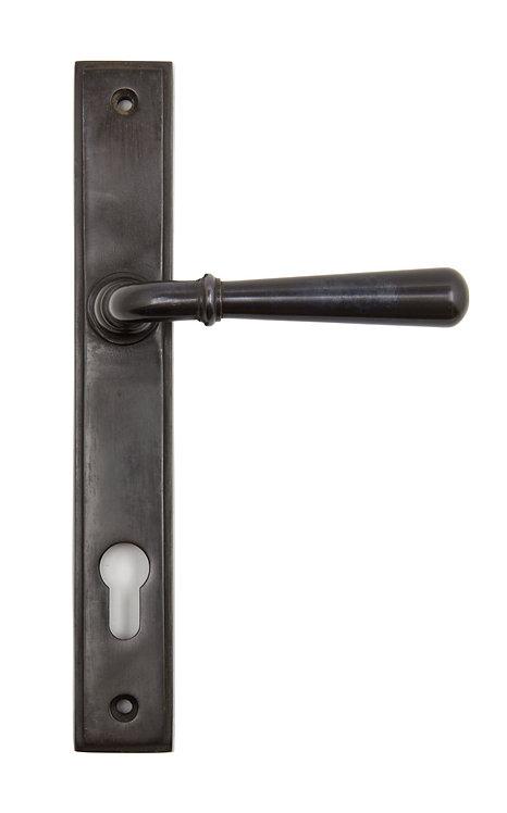 From The Anvil - Aged Bronze Newbury Slimline Lever Espag. Lock Set