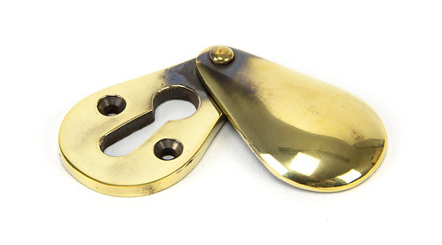 From The Anvil - Aged Brass Plain Escutcheon