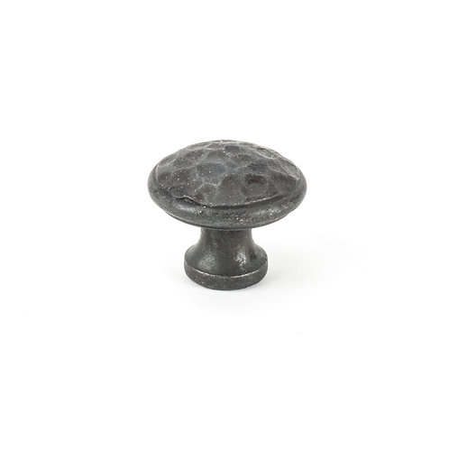 From The Anvil - Beeswax Hammered Cabinet Knob - Medium