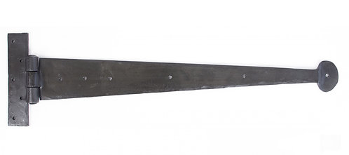 """From The Anvil - Beeswax 22"""" Penny End T Hinge (pair)"""