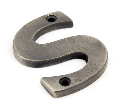From The Anvil - Antique Pewter Letter S