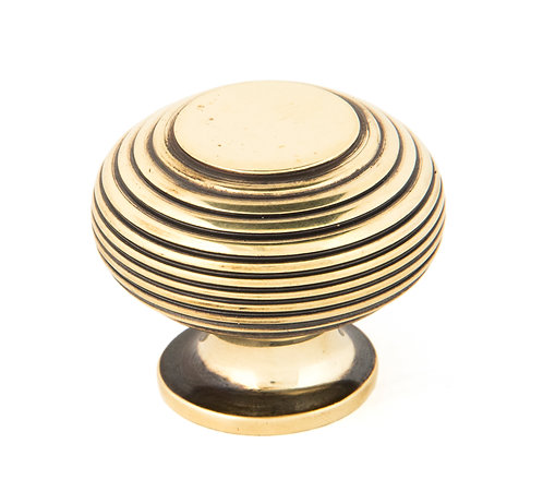 From The Anvil - Aged Brass Beehive Cabinet Knob 40mm