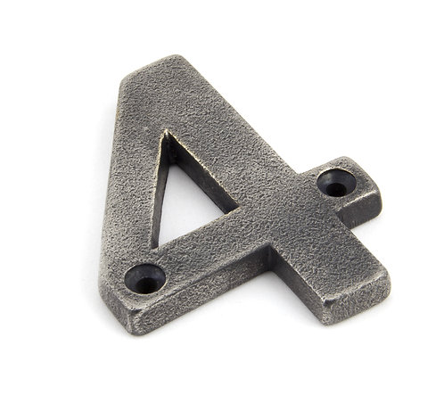 From The Anvil - Antique Pewter Numeral 4