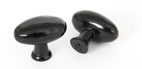 From The Anvil - Black Oval Cabinet Knob