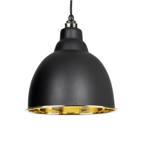 From The Anvil - Black Smooth Brass Brindley Pendant
