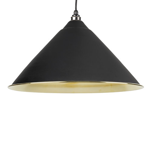 From The Anvil - Black Smooth Brass Hockley Pendant