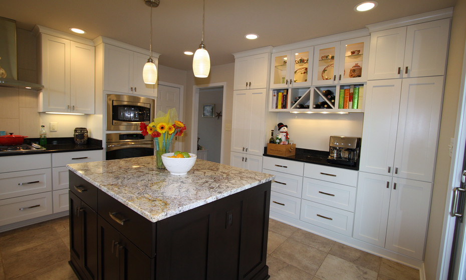 A small Kitchen doesn't have to look small when maximizing every inch of space with efficiency in design.