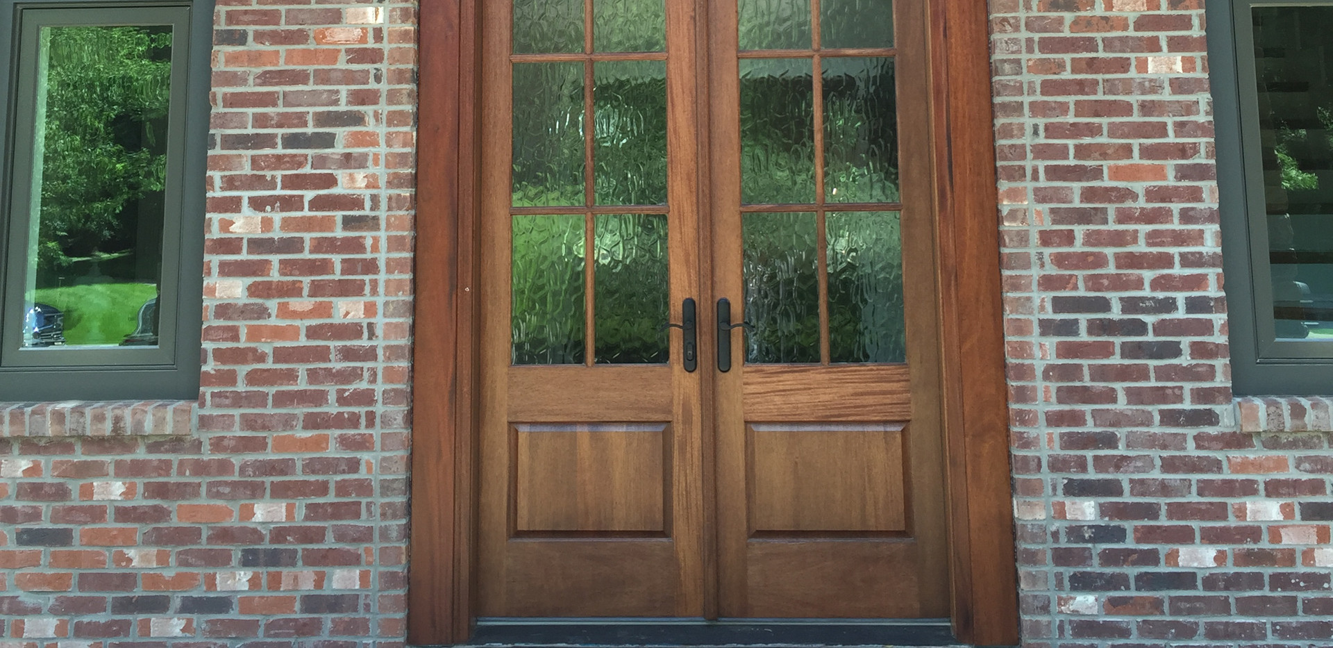 "This door and transom is approximately 20'-'0"" tall.  Certainly is a WOW factor."