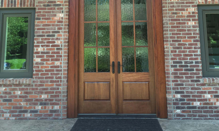 """This door and transom is approximately 20'-'0"""" tall.  Certainly is a WOW factor."""