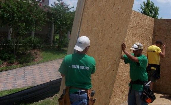 Installing SIPS (Structurally Insulated Panels) gives a homeowner peace of mind as these panels protect a home structurally more so than a framed stud wall.  Check them out at www.FisherSIPS.com.