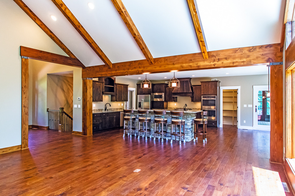 Large Great Room overlooks the Kitchen with plenty of room for guests.