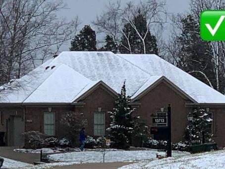 Gauge insulation via snow on roofs