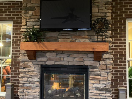 Exterior Fireplace Update