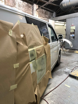 VW Transporter bodywork respray