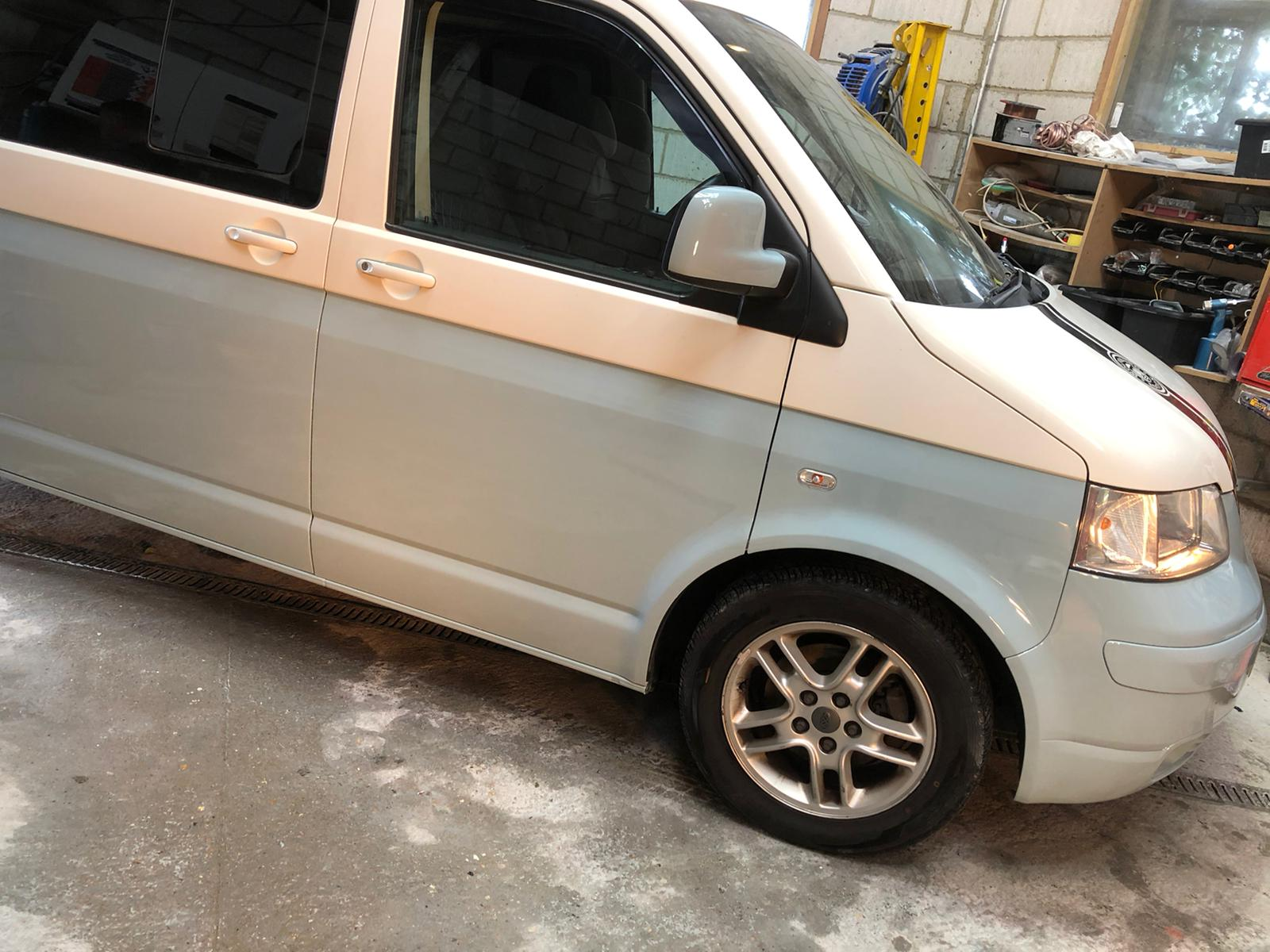 VW Transporter Two Tone Respray